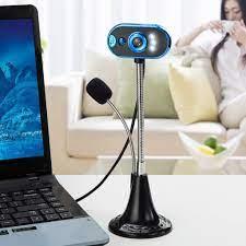 LED HD Webcam masaüstü bilgisayar kamera PC Video Usb Webcam mikrofon gece  görüş kamerası Web Cam kamerka internetowa J80|Webcams