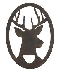 metal deer silhouette wall décor