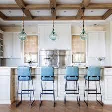 Stools Design Blue Leather Bar Turquoise Kitchen  Counter Blue Leather Bar Stools O11
