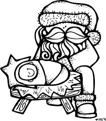 Baby Jesus Coloring Pictures Melonheadz Santa