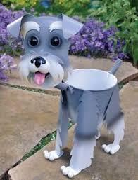 schnauzer gift ideas adorable schnauzer mini bobblehead metal dog planter stand home garden raza schnauzer schnauzer art