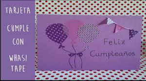 tarjetas de cumplea os para ni as tarjeta felicitación para cumpleaños con washi tape manualidades diy
