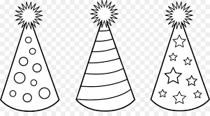 birthday hat clip art black and white. Party Hat Birthday Clip Art Png On Black And White KissPNG