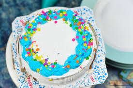 Birthday Party Ice Cream Cake With Easy Diy Flowers An Alli Event