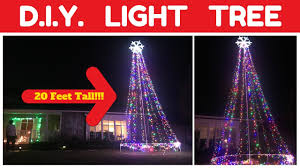 Wow Lights Mega Tree How To Build A 20 Foot Lighted Christmas Tree Holiday Light Diy