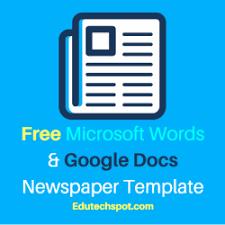 Classroom Newspaper Template 25 Free Google Docs Newspaper And Newsletter Template For Classroom