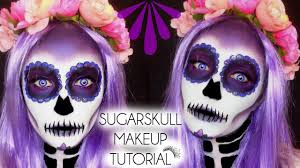 sugarskull day of the dead makeup tutorial laura sommerville you