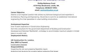100 Civil Engineering Sample Resume Sample Civil