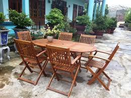 wood patio furniture. Wood Patio Dining Table Pertaining To Garden Oval 6 Chairs Wooden Outdoor Furniture Remodel 2 O