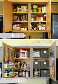kitchen organization ideas for storage on the inside of the kitchen cabinets by jenna burger