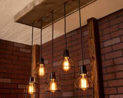 ceiling industrial lighting fixtures industrial lighting. Lighting/ Industrial Lighting, Chandelier, Black With Reclaimed Wood And 5 Pendants. Ceiling Lighting Fixtures S