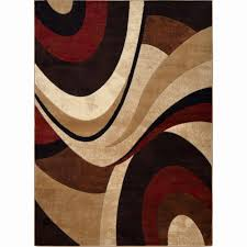 round red rug lovely home dynamix tribeca collection contemporary brown red area rug 3