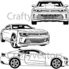 Chevrolet camaro 2016 vector svg cut file il fullxfull chevrolet camaro 2016 vector svg cut