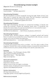 Housekeeper Sample Resume – Directory Resume Sample