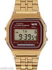 casio gold watch men casio a159wgea 5 mens gold tone stainless steel digital watch vintage retro new
