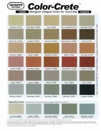 Scofield Stamped Concrete Color Chart Concrete Acid