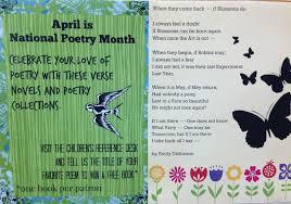 Poetry Month Display Miss Print