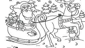 Coloring Pages Of Santa Antiatominfo