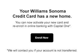 williams sonoma credit card home