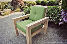 Diy Outdoor Furniture Diy Modern Rustic Outdoor Chair Plans Using Outdoor Cushions From