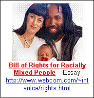 benefits of an interracial relationship text box bill of rights for racially mixed people essay