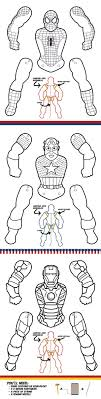 Create Your Own Superhero Puppets Color