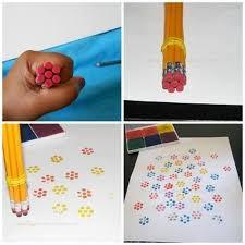 flower stamp craft for kids