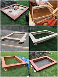 diy wooden sandbox with seats free plans