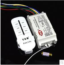 crystal chandelier 4 remote control switch 220v lamp wireless remote control switch yam