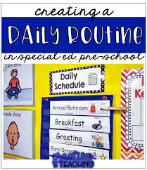 Classroom Routine Chart Daily Schedule This Is How We Do It Creating Teaching