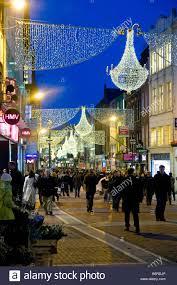 Festive Lighting Dublin Grafton Street Dublin Festive Christmas Lights On Dublins
