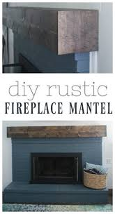 learn how to build a simple diy fireplace mantel this rustic fireplace mantel has the