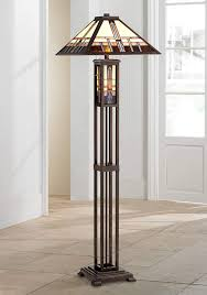 Geometric Art Glass Mission Floor Lamp With Night Light Amazoncom
