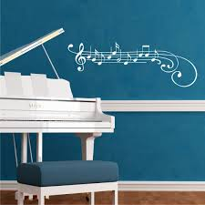 treble clef note wall art