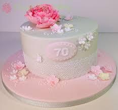 70th Cake Designs Vintage Peony Lace 70th Birthday Cake Design Based On