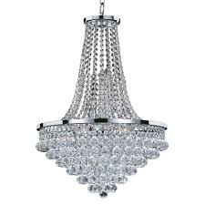 glow lighting vista 9 light faceted crystal ball and chrome frame chandelier