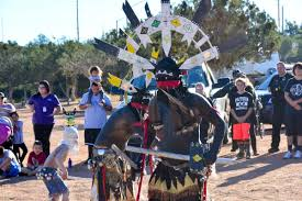 Crown Dancers Share The Dance At Tonto Apache Tribes 45th