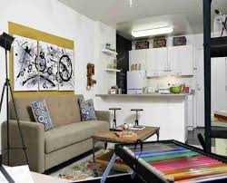 Small Living Room Furniture Layout Small Living Room Layout Combined With Cute Kitchen Design Using