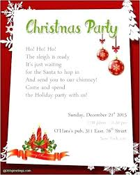Christmas Party Invitation Letter Guluca