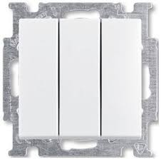 <b>Выключатель трехклавишный Basic55</b> (16 А, под рамку, с/у ...