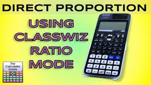 direct proportion on casio classwiz using ratio mode