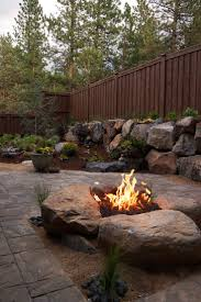 Paver Patio & Gas fire pit in Northwest Bend, Oregon.