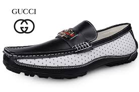 gucci shoes black and white. gucci men casual black white with gold logo shoes and n