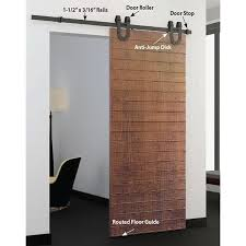 ... View a Different Image of American Pro Decors Black Solid Steel  Decorative, Sliding-Rolling ...