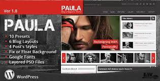 Wordpress Website Templates Magnificent Paula Blog Magazine Wordpress Theme By Jawtemplates ThemeForest
