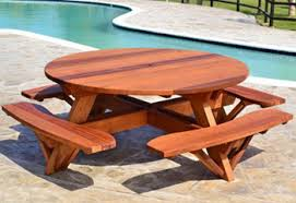 Redwood Tables & Patio Furniture