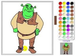 Small Picture Shrek Coloring pages online game YouTube