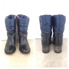 Tommy Hilfiger Shoes Size Chart Europe Tommy Hilfiger Royal Blue Leather Puffer Ankle Euro 36 Boots Booties Size Us 5 5 Regular M B 60 Off Retail