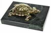«Фигурка <b>дракон</b> черепаха на слитках с черепашкой, бронза, 6 ...