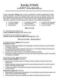 Teacher Resume Examples Elementary School Elementary Teacher Resume